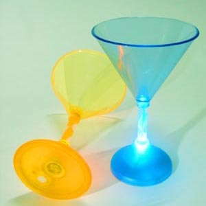 China led lightup flashing martini cocktail glass ns 102 for Cocktail 102