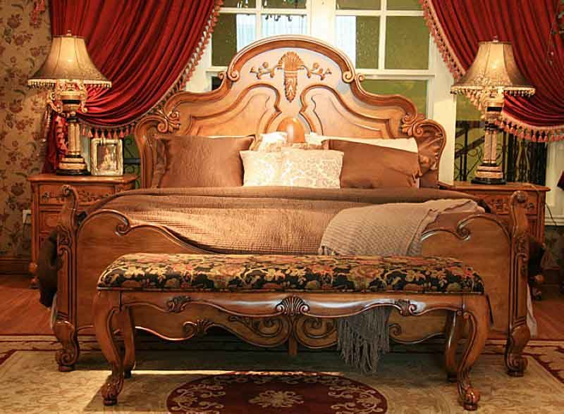 China antique wood bed bd bedroom furniture