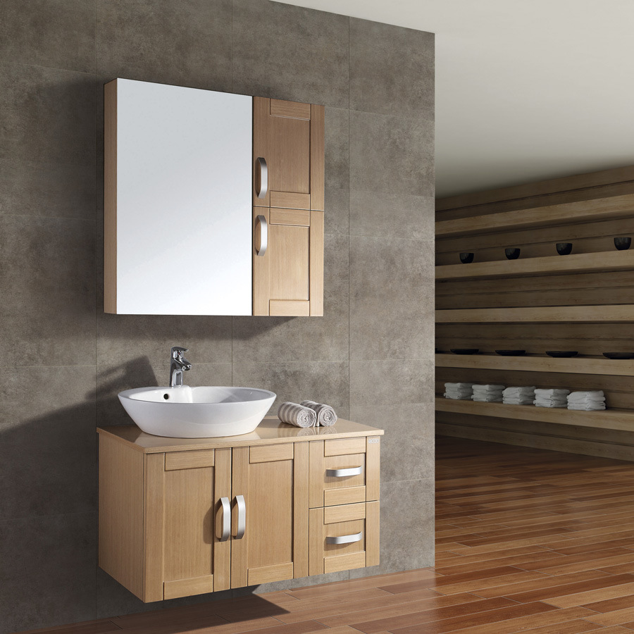 China veneered bathroom furniture set ac 9015 china for Bathroom furniture cabinets