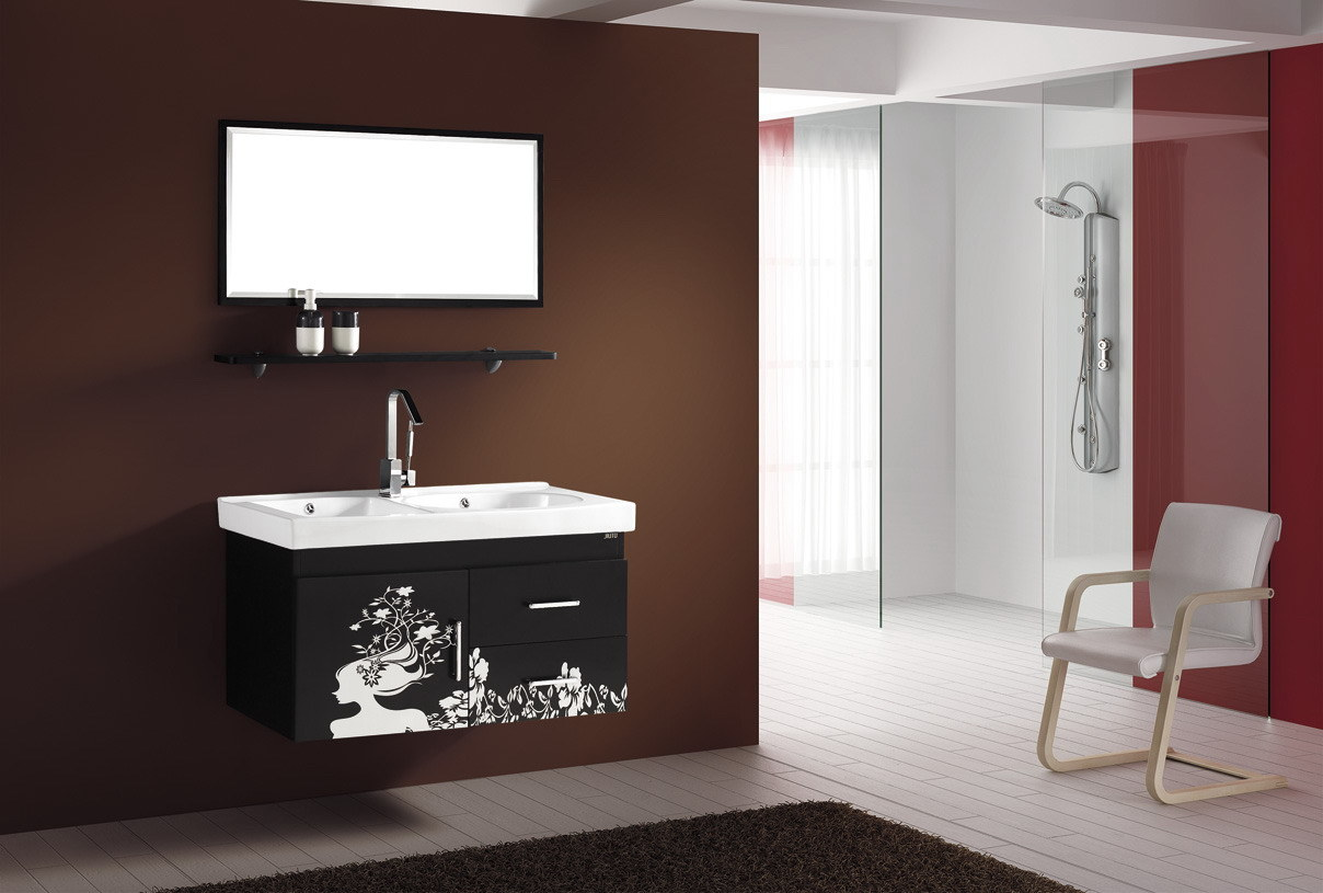 luxury black and gold bathroom furniture from mignon collection design