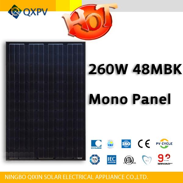 48V 260W Black Mono Solar Panel