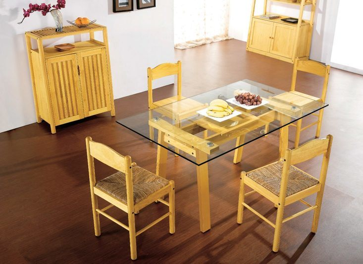 China north european pine wood high quality design dinner - Pine wood furniture designs ...
