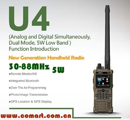 30-88MHz, 5W Low Band Military Radio for Army, Digital Tactical Low VHF Radio for Mlitary
