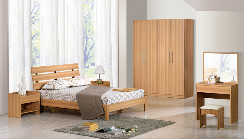 China Simple Bedroom Furniture 6607 on wholesale modern bedroom set