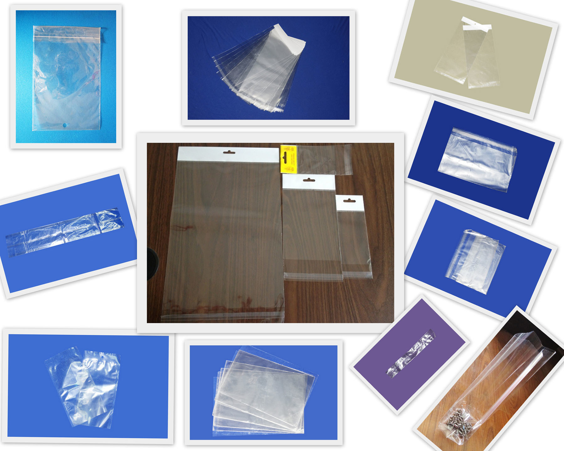 Clear Plastic Colorful Print Promotion Bag