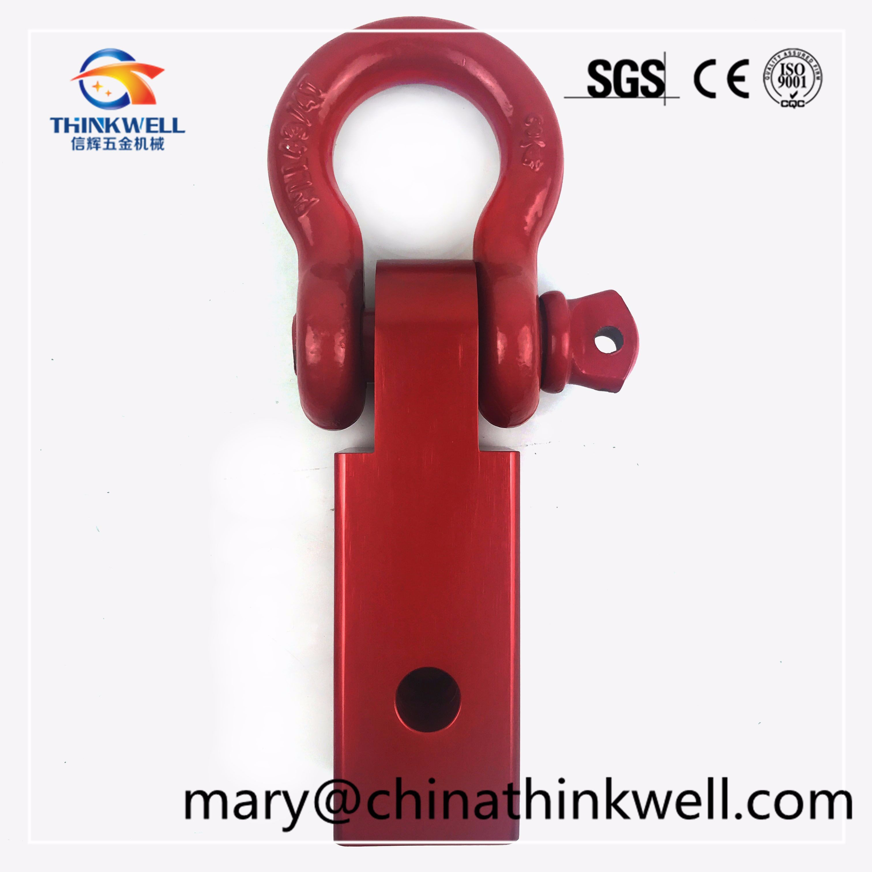 Aluminum Alloy Tow Bar Shackle D-Ring Recovery Hitch Receiver