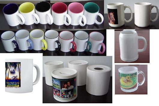 Sublimation Coated Ceramic Mug, Sublimation White Mug