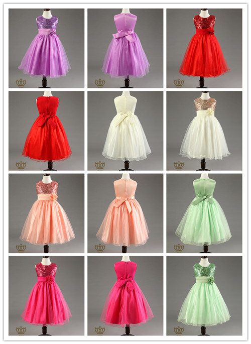The New Marriage Lovely Sweet Flower Girl Baby Party Wedding Dress Flowergiril Dresses