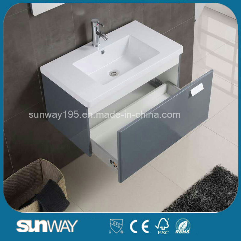 Wall Mounted Modern European Design Bathroom Vanity with Mirror Cabinet