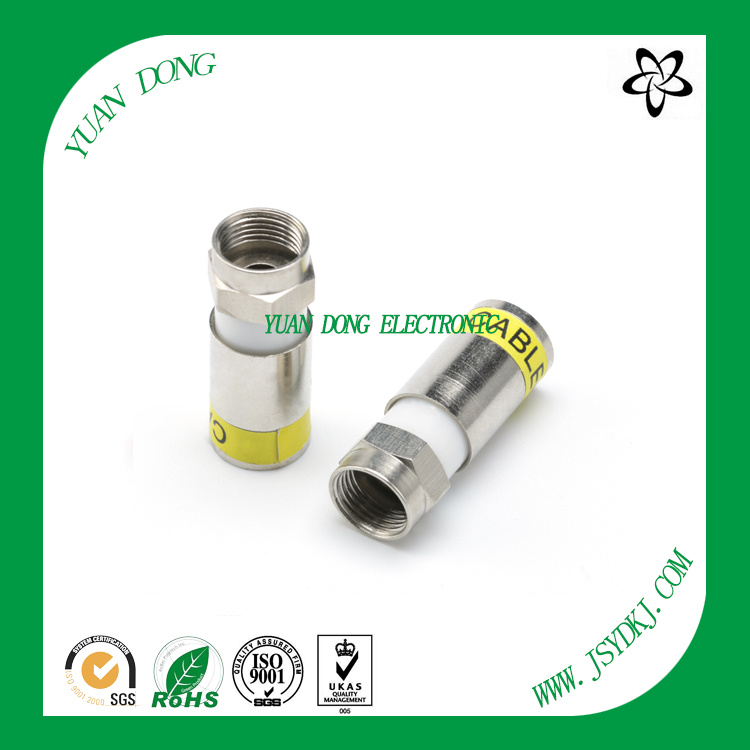 RG6 Cable Compression Type F Male Customized Connector