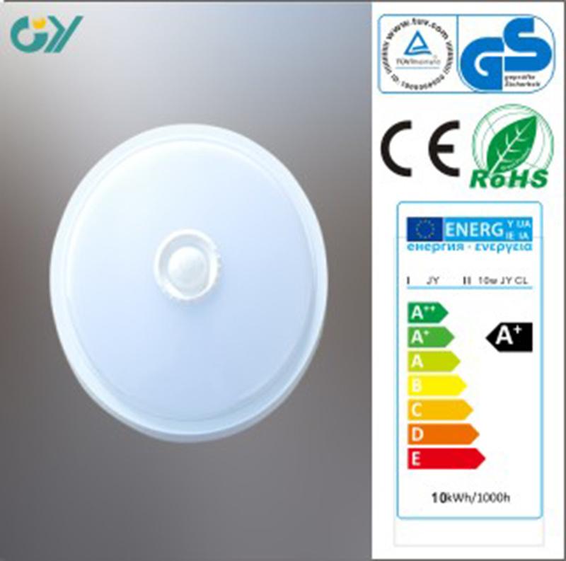 CE RoHS Approved 6000k 7W 0.9PF Sensor LED Ceiling Light