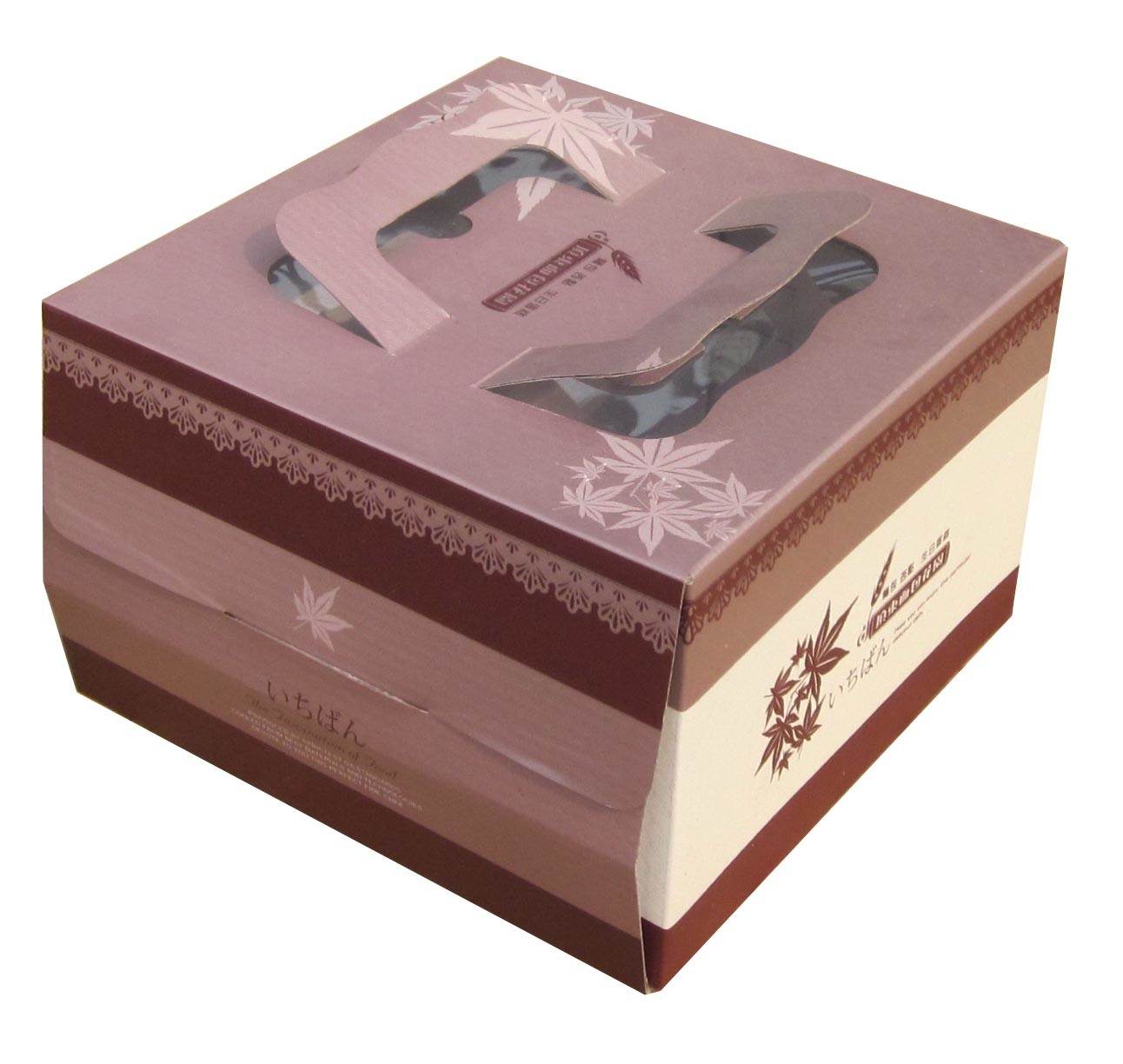 China Decorative Cake Boxes with Handle Paper Gift Box Wholesale