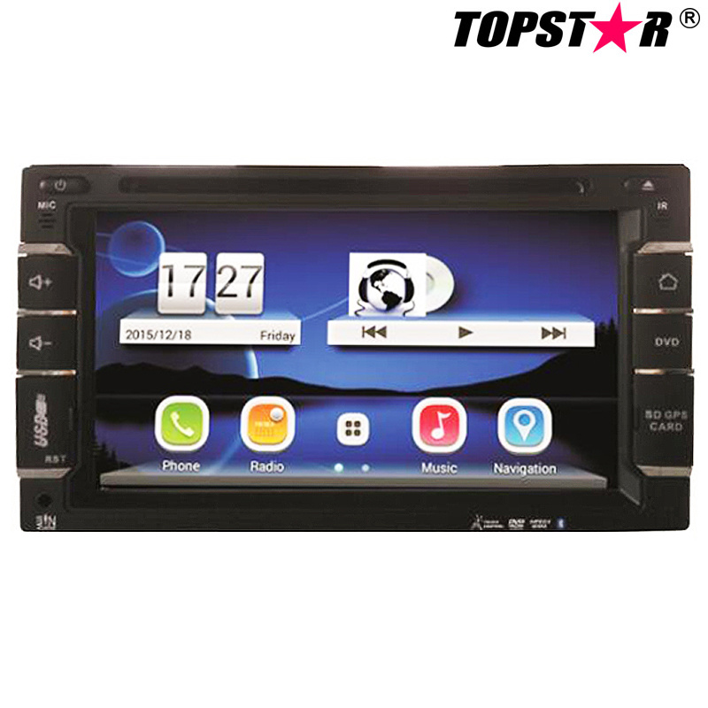 6.5inch Double DIN Car DVD Player with Wince System Ts-2508-2