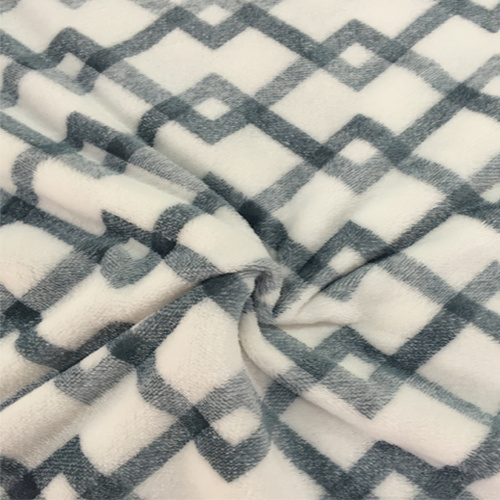100% Polyester Cation 3 Jacquard Flannel Fleece