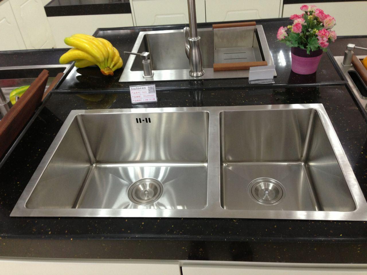 Handmade Stainless Steel Kitchen Sink (7843S)