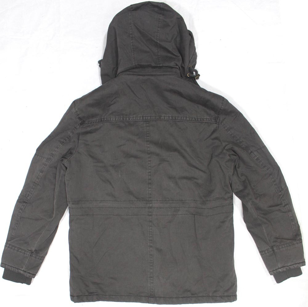 Men Casual 100% Cotton Vintage Washing Jacket/Coat with Hoody