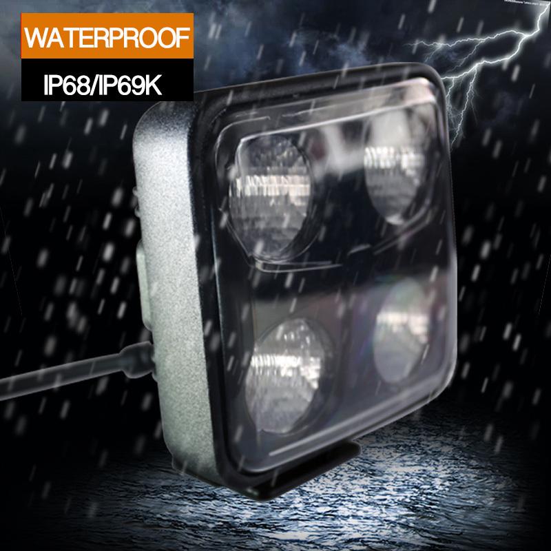 Waterproof IP69k LED Work Light 40W (Warranty 2 years)