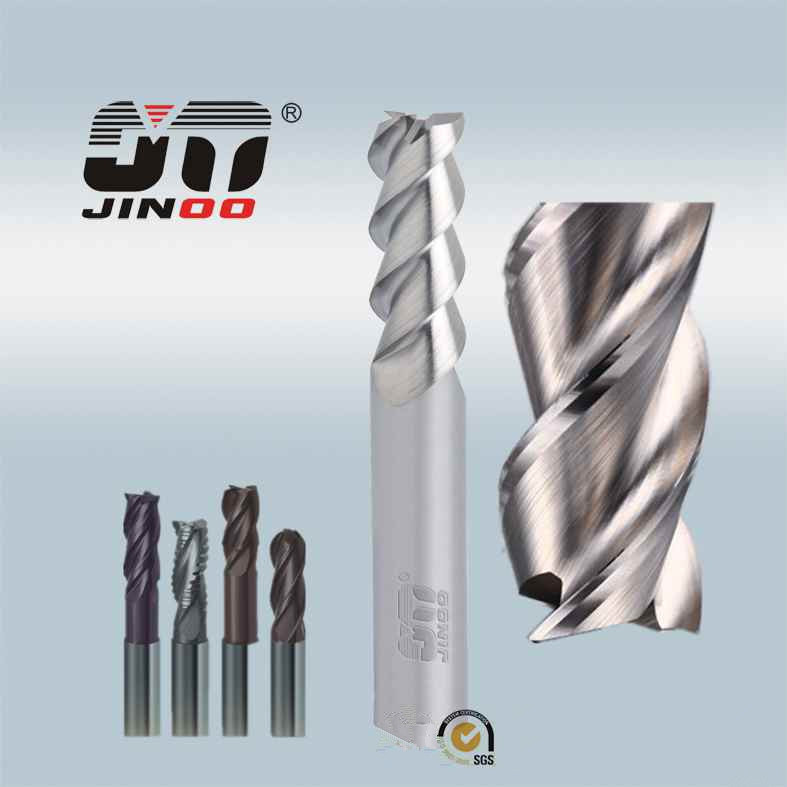 3 Flute 55 Degree Helix Angle Carbide Cutting Tool