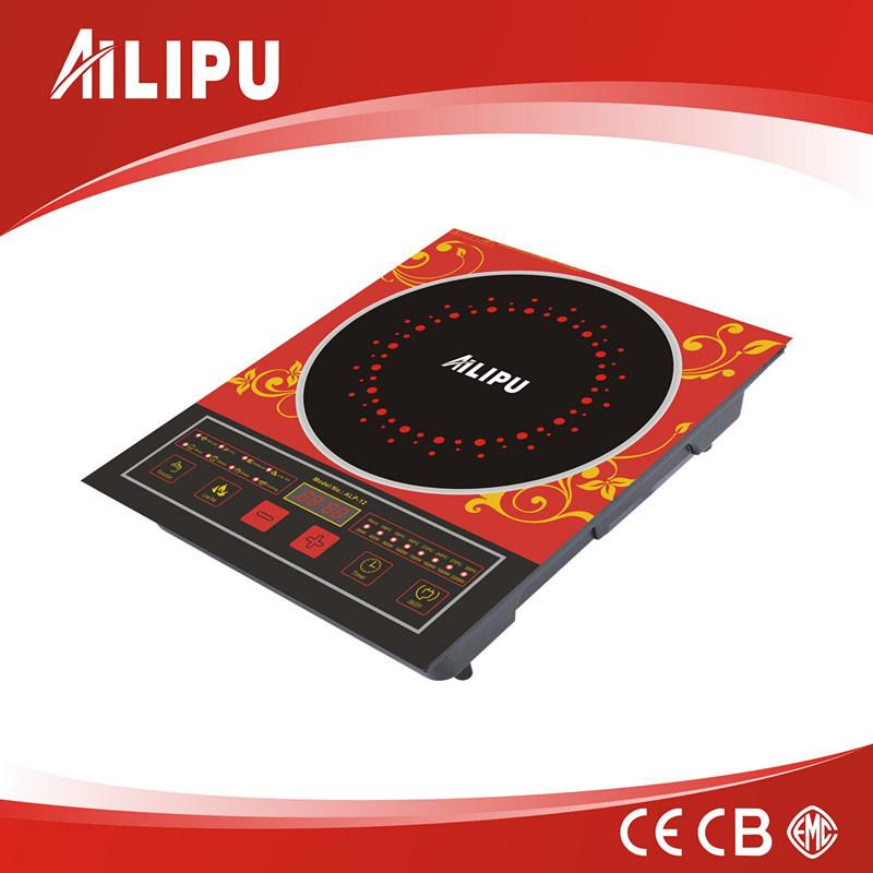 Zhongshan Shunmin Hot Selling Big Size Touching Red Ailipu Induction Cooker with Blue Lighting (ALP-12)