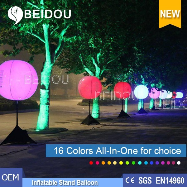 Factory Wholesale PVC Balloons Lighting Advertising Inflatable Tripod Stand Balloon