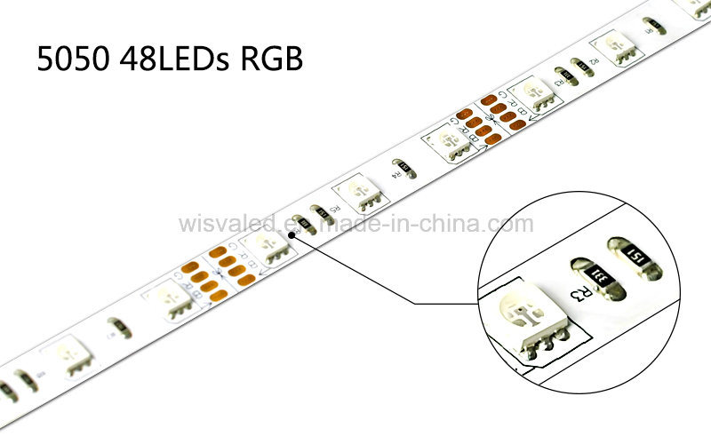 5050 RGB Color Changing Strips, 48LEDs/M UL Listed