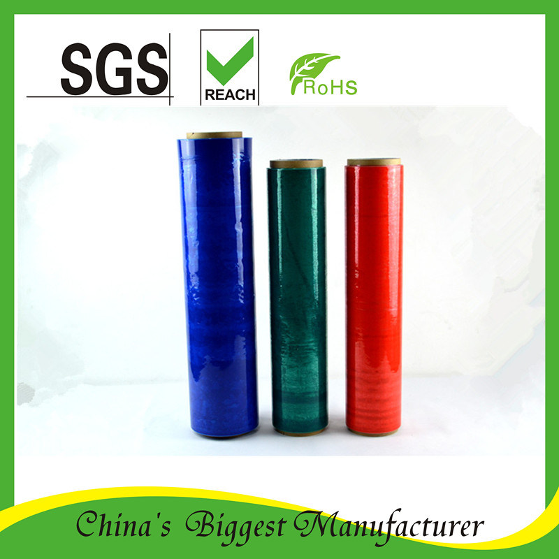 Colorful Plastic PE Stretch Film Black Stretch Pallet Wrap Film