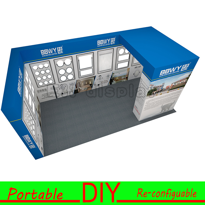 Custom Portable Modular Exhibition Booth Stand for LED Lighting Show