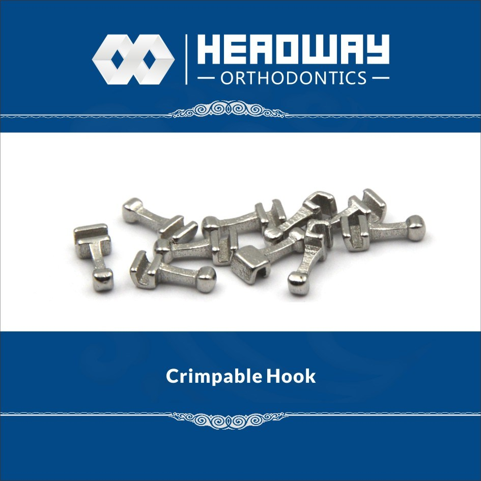 High Quality Orthodontic Accessory Headway Middle Crimpable Hook with Ce
