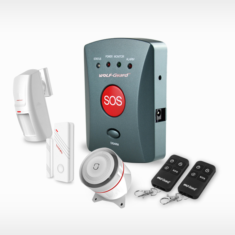 GSM Burglar Emergency Solar Alarm for Saving Power
