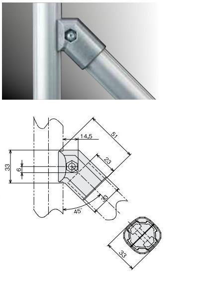 45 Degree Aluminum Alloy Joint