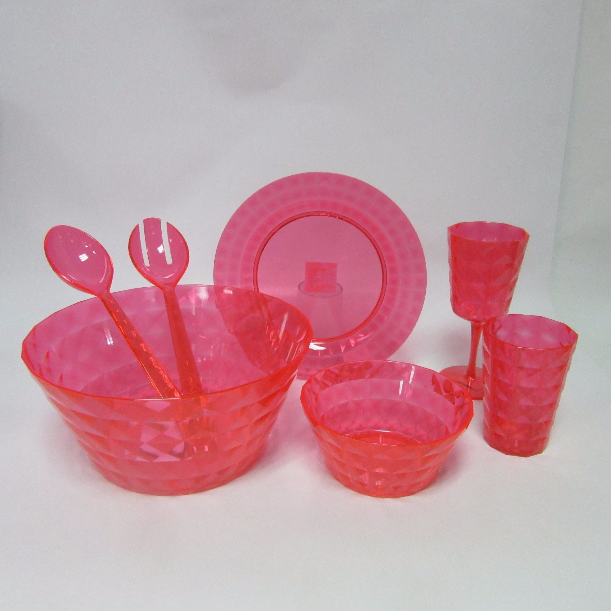 PS Salad Bowl Plastic Big Bowl Tableware Colored