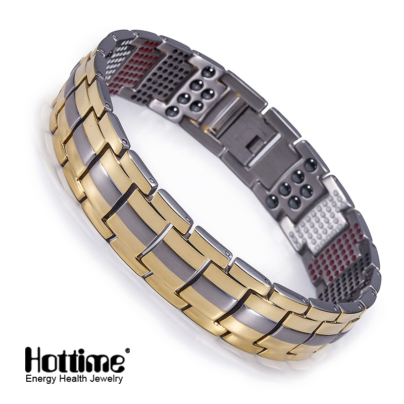 Hottime 591PCS Health Element Titanium Bracelet for Unisex (10093)