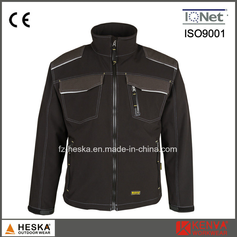 Mens TPU and Fleece 3 Layer Anti-Abrasion Softshell Jacket