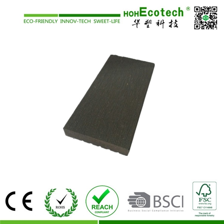 Composite Wood Skirting, WPC Flooring Edge Covering, Waterproof WPC Decking Side Covering
