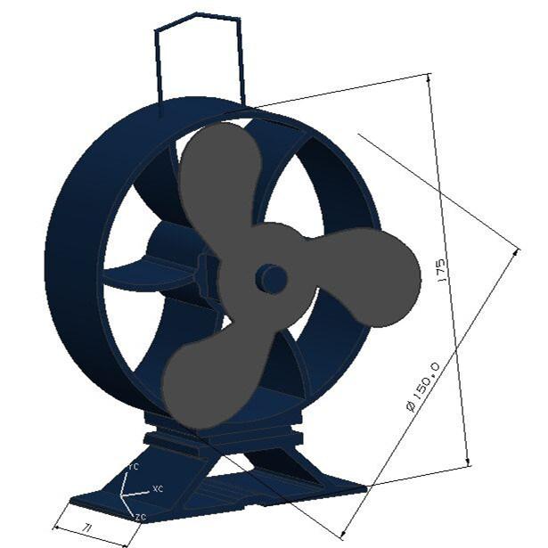 Well Design Ecofan Heat Powered Wood Stove Fan