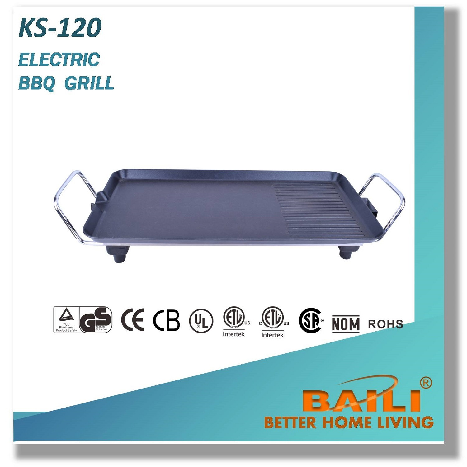 Electric Non-Stick Indoor BBQ Grill, Easy to Clean Grill