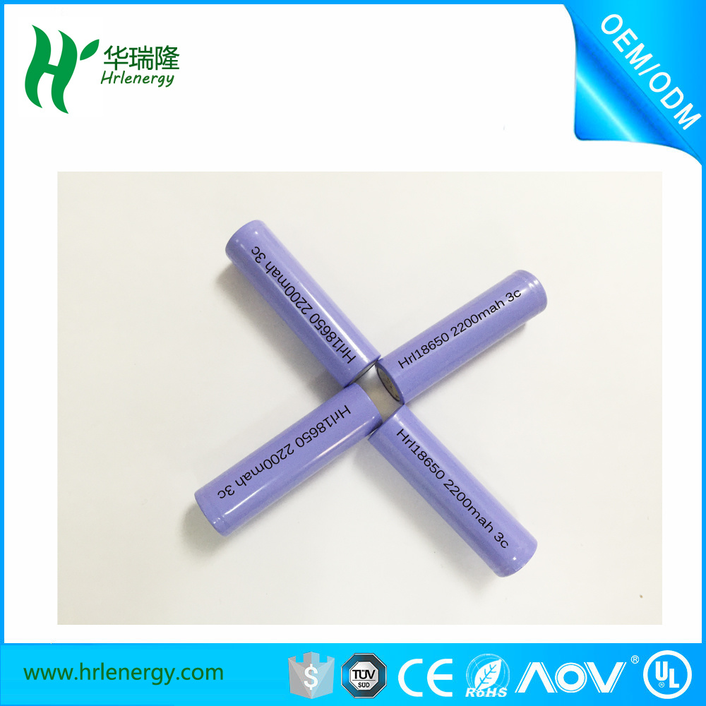 High End Li Ion Polymer Battery 3.7V 2200mAh for Strong Light Flashlight