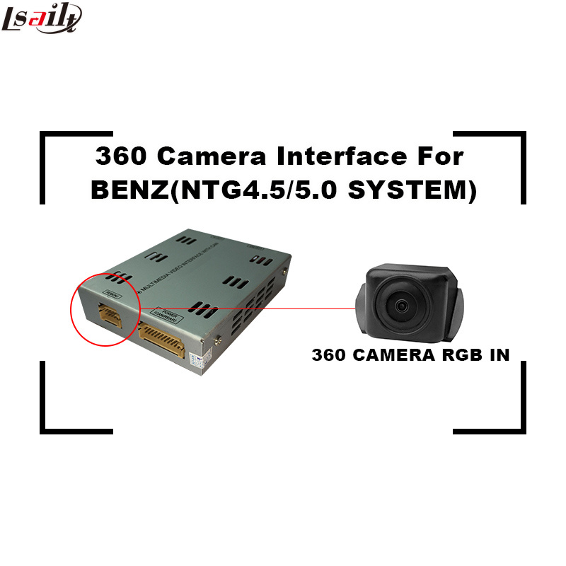 Car Reversing Camera 360 Interface for Mercedes-Benz Ntg5.0