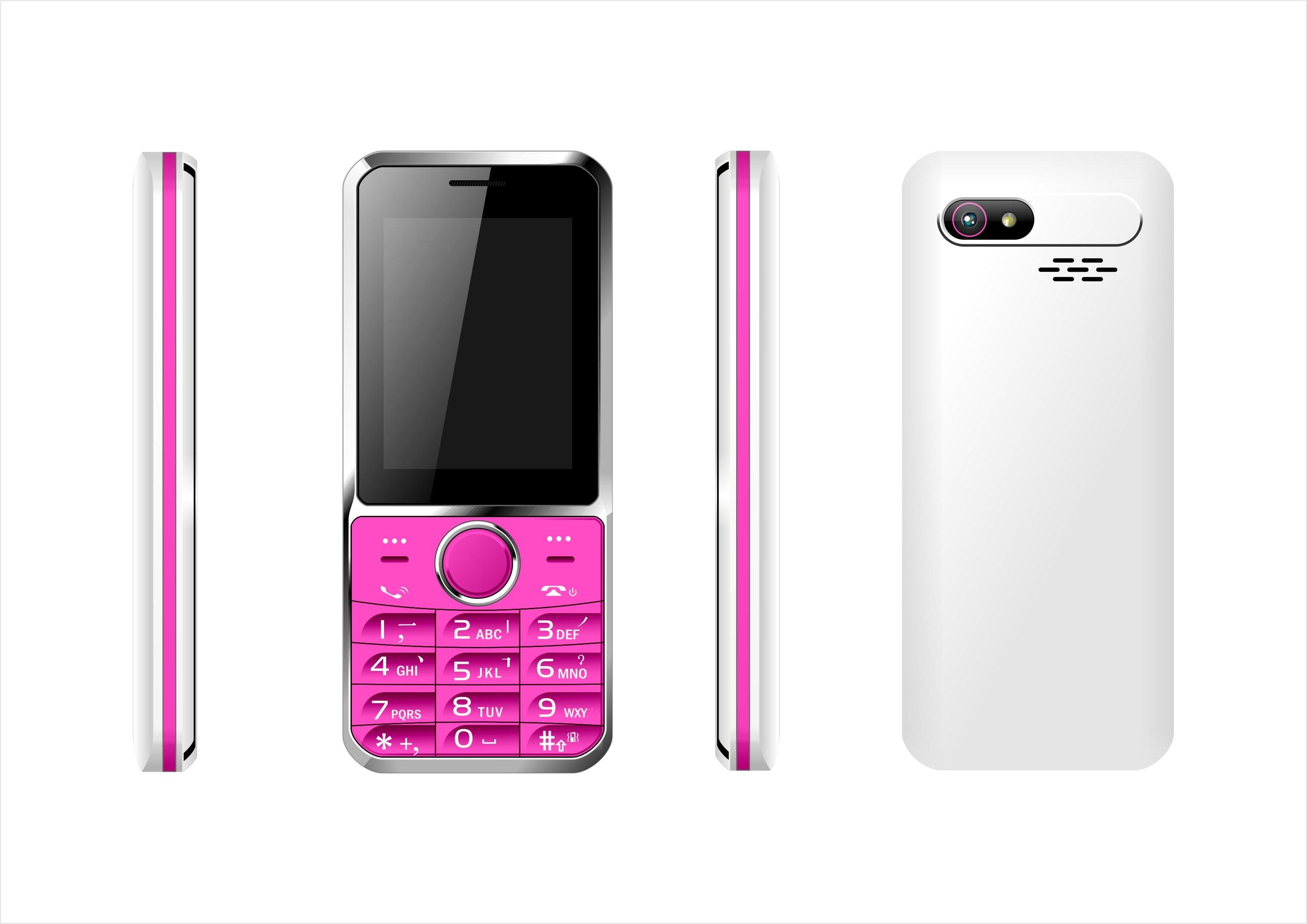 Factory Original Mobile Phone 2.4inch Qvga Screen Dual SIM Feature Phone C26