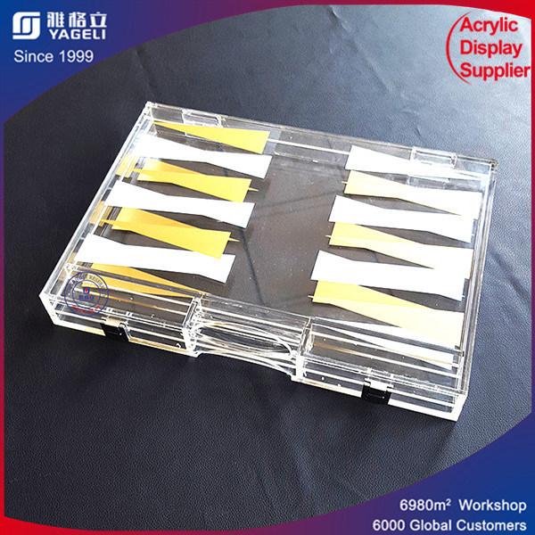 Handmade Acrylic Backgammon Set for Game Display