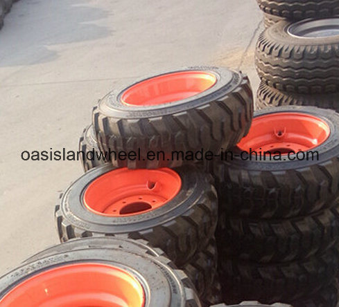 Industrial Skid Steer Loader Tyres (10-16.5 12-16.5) with Rim