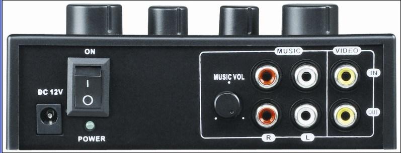 Gymsense Home Karaoke Mixer with Tone and Echo
