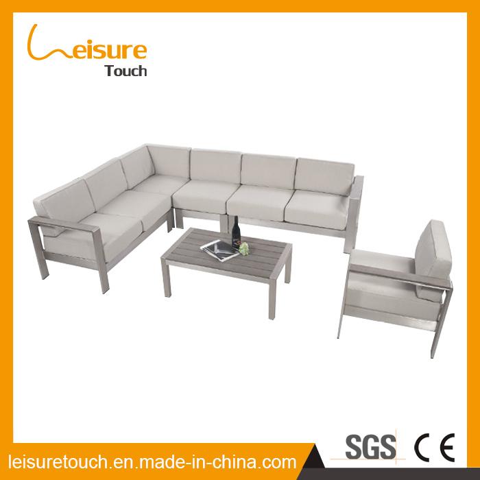 Family Expenses Outdoor Furniture Leisure Fashion Hotel Gray Aluminum Combination Corner Sofa