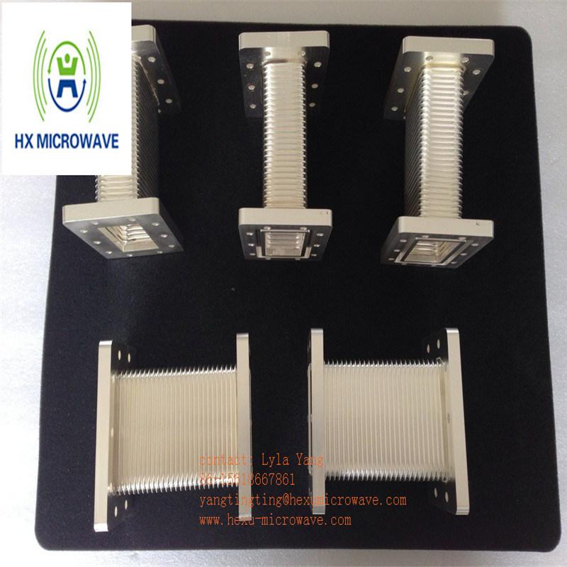 Hexu Microwave High Power Microwave Brass Flexible Seamless Waveguide
