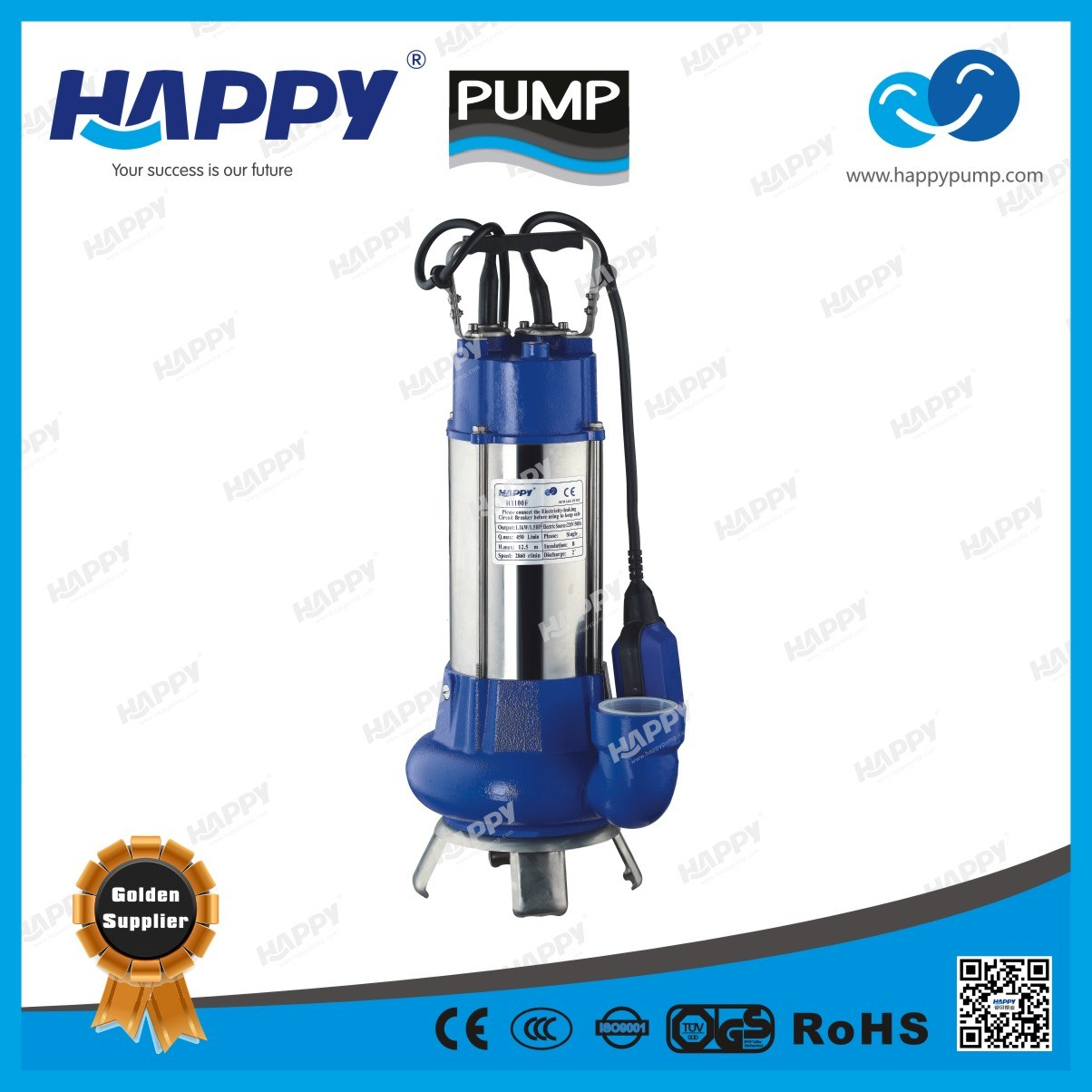 Submersible Sewage Electric Pump (H1100F)