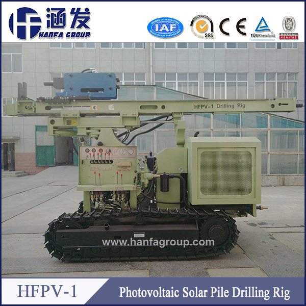 Professional Industrial Guardrail Hydraulic Press Crawler PV Solar Pile Driver