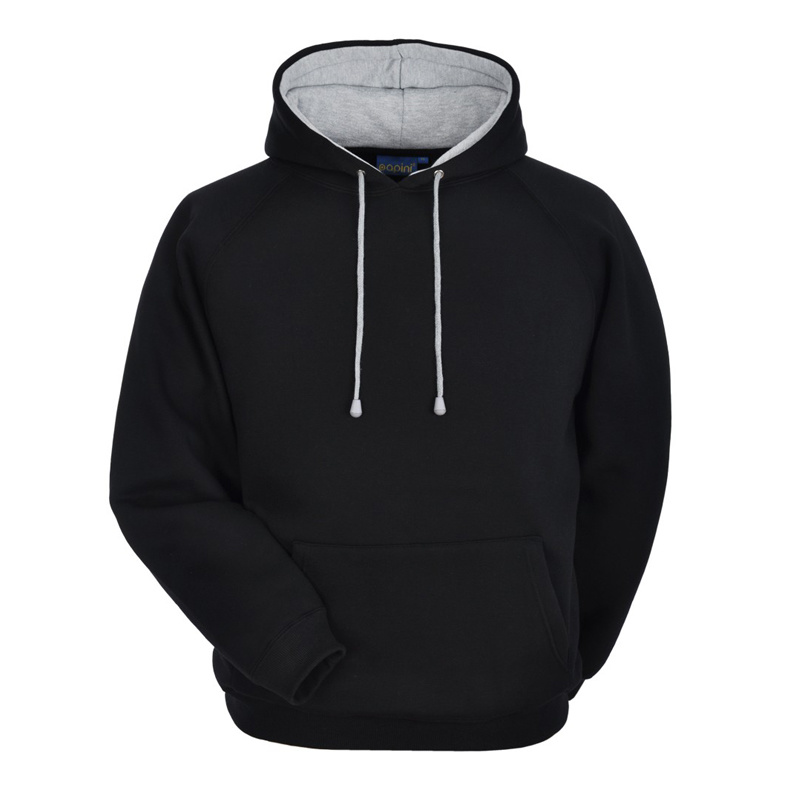 Bonded Jersey to Polar Fleece Two-Side Wear Hoodie