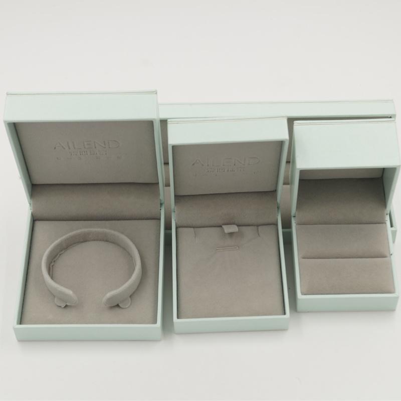 Flannelette Lint Flocking Plastic Jewelry Jewellery Box (J70-E2)