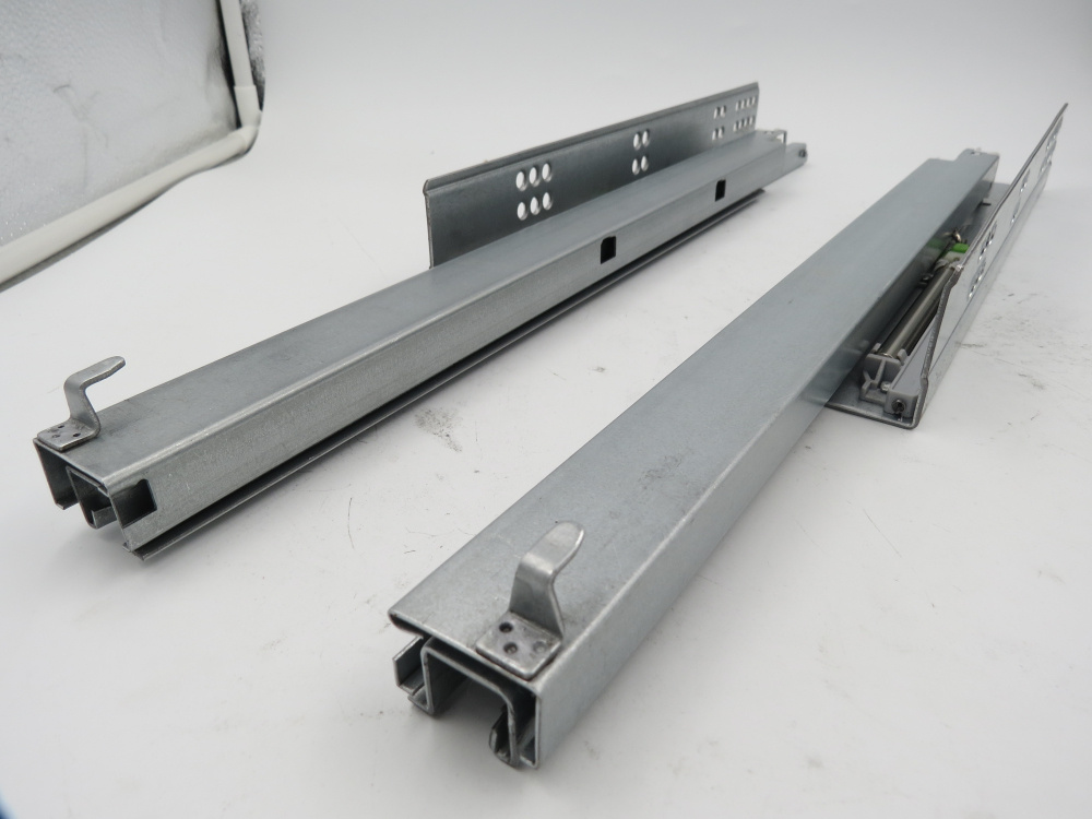 Soft Close Metal Box Drawer Slides Telescopic Channel