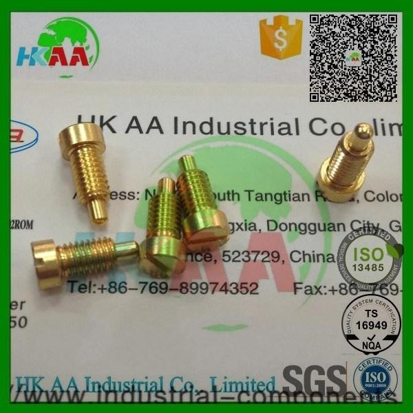 Custom Design Gold Plated Brass Spring Loaded Pogo Pin